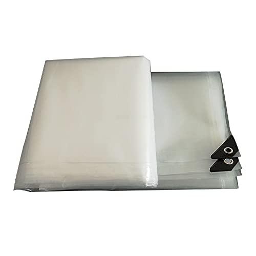 WY7 Lona Transparente, Aislamiento Al Aire Libre del Refugio del Hogar del Balcón del Paño Plástico Grueso Impermeable,Clear,2x6m