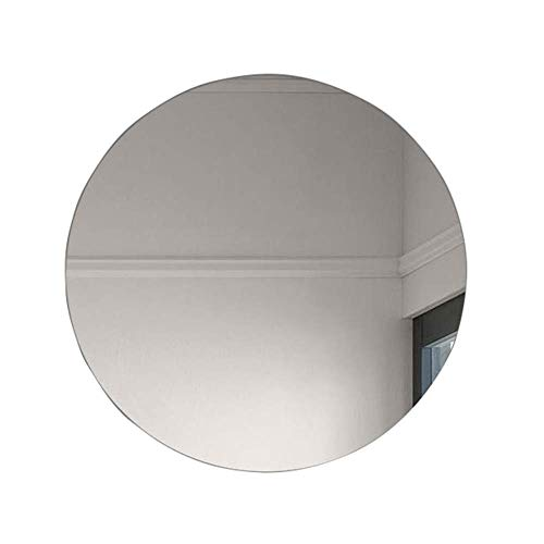 RXDP Round Wall-Mounted Frameless Bathroom Mirror, 5mm high-Definition Imaging Vanity Mirror, Used -