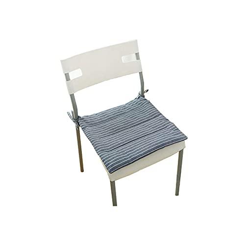 TONGTONG 1 cojín japonés de algodón y lino antideslizante, suave y cómodo, con lazos, 40 cm x 40 cm
