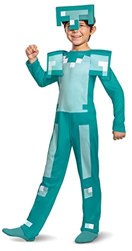 MINECRAFT- Classic Diamond Armour Kids Costume, Colore Armatura, S, 11458L