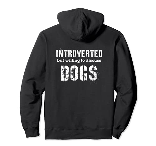 Regali introversi per gli amanti dei cani che parlano dei cani Felpa...