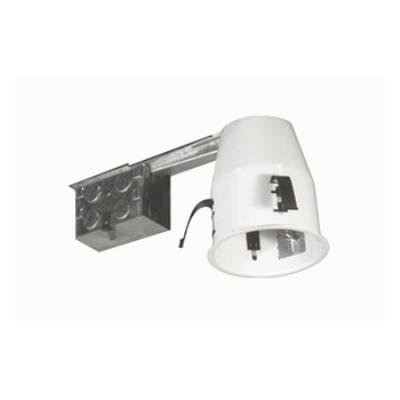 "Jesco Lighting RS2000RA 4"" Line Voltage Non IC Airtight Housing For Remodeling, Silver Finish"