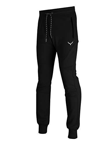 Screenshot Sports-A4050 Mens Spandex Fleece Athletic Jogger Fitness Workout Gym Sweatpants-Black-Medium