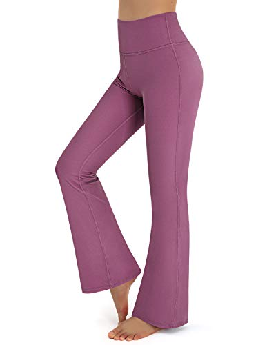Promover Bootcut Yoga Pants for Women Tummy Control High Waist Workout Pants Boot-Cut Long Bootleg Work Pants (Red,S)
