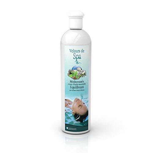 Camylle - Velours de Spa Méditerranée - Fragrances à base d'Huiles Essentielles 100% Pures et Naturelles pour Spa ou Jacuzzi - Equilibrant aux arômes frais et fleuris - 500ml