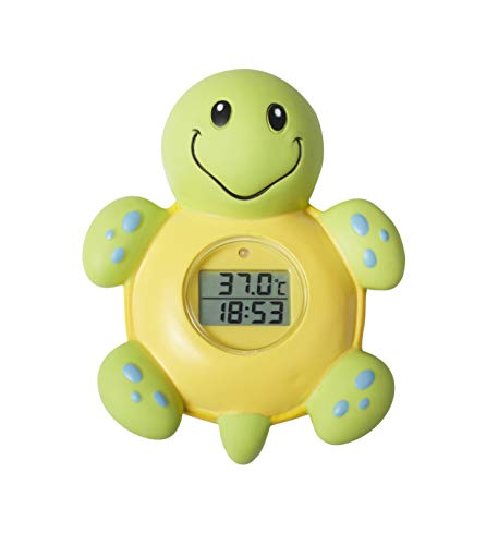 Nuby Bath Thermometer and Clock, Turtl