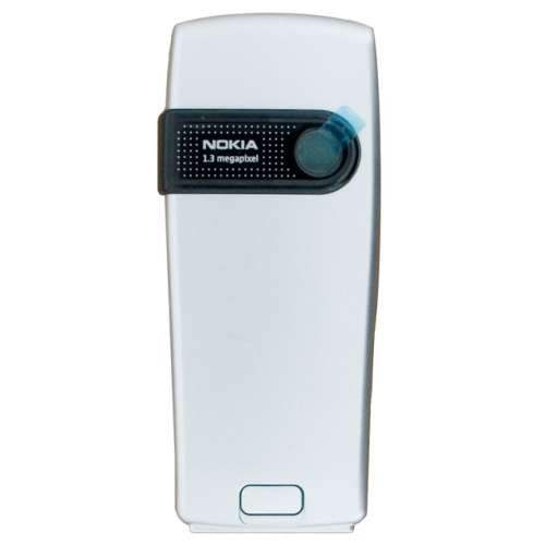 Nokia 6230i original Akkudeckel inklusive Kamera Linse silber