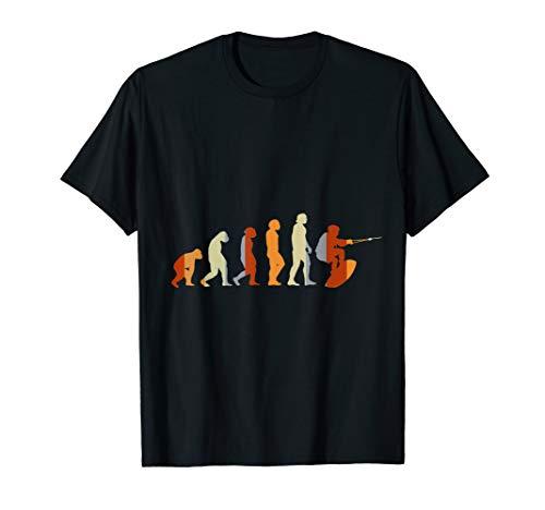 Geschenk für Wasserskifahrer Evolution Wasserski T-Shirt