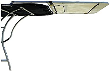 """Dolphin PRO2,PRO3 T TOP Canopy Extension Kit, Adds 60% Shade, Stainless Frame 47"""" Long x 60"""" Wide, Black or Navy Blue"""