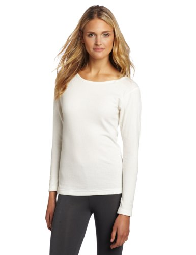 Duofold Women's Mid Weight Double Layer Thermal Shirt, Winter White, Medium