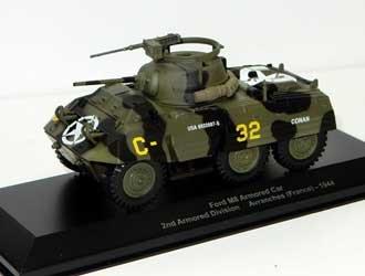 Ex Mag Ford M8 (2nd Division Blindée - Avranches France 1944) Miniature Voiture Blindée