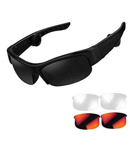 Bone Conduction Headphones Sunglasses Wireless Safety Bluetooth Glasses Pro ( Fit for Head Width 22-26 Inches)