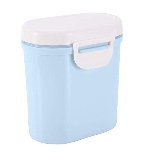 Babymelkpoeder Dispenser, Kids Formula Seal Storage Box Container Micro Koelkast Kluis Child Candy Fruit Snack Cup Container for Travel Picnic (Kleur: Blauw, Maat: S) (Color : Blue, Size : Large)