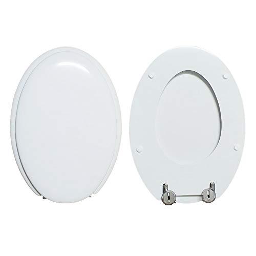 WC-Sitz SCULTURE HATRIA kompatibel lackiert weiß glänzend Polyester