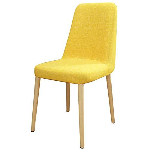 CHENHENG Sedia Posteriore Stile scandinavo Stile Semplice Tavolo da Pranzo e Sedia Sedia da Camera da Letto,Giallo
