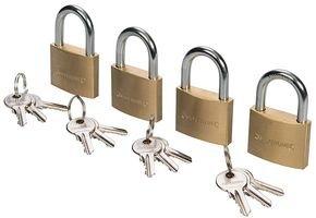 Silverline 675152 - Candados con una sola llave, 4 pzas (40