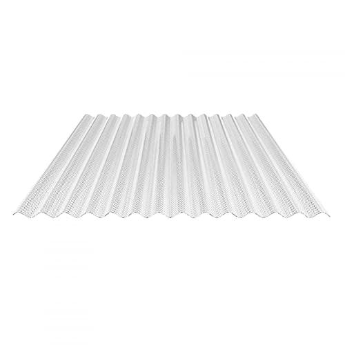Lichtplatte   Wellplatte   Lichtwellplatte   Material Acrylglas   Profil 76/18   Breite 1045 mm   Stärke 3,0 mm   Farbe Glasklar   Wabenstruktur
