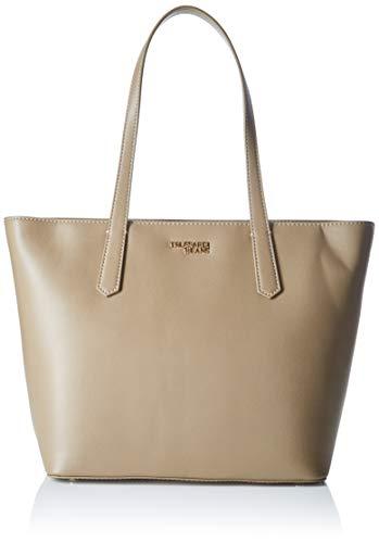 Trussardi Jeans Miss Carry Tote MD Saffiano EC, Borsa Donna, Marrone (Taupe), 17x29x31 cm (W x H x L)