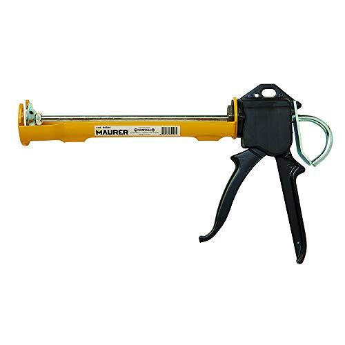 Maurer 84204 Pistola per Cartuccia Silicone Professionale, Multicolore