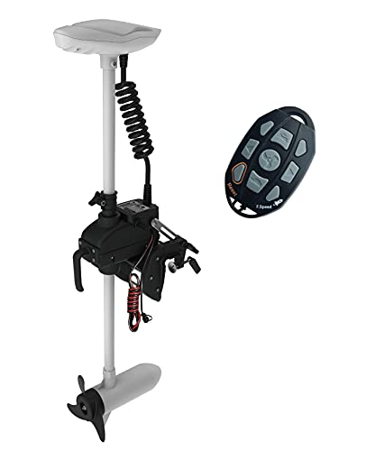 AQUOS Haswing 12V 55LBS 26inch Electric Trolling Motor for Saltwater, Freshwater Fishing, Inflatable Boat, Kayak, Dinghy Small Boat