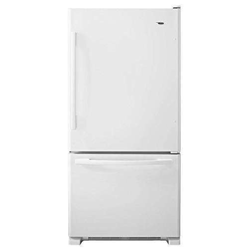 Amana ABB2224BRW 21.9 Cu. Ft. White Bottom Freezer Refrigerator - Energy Star