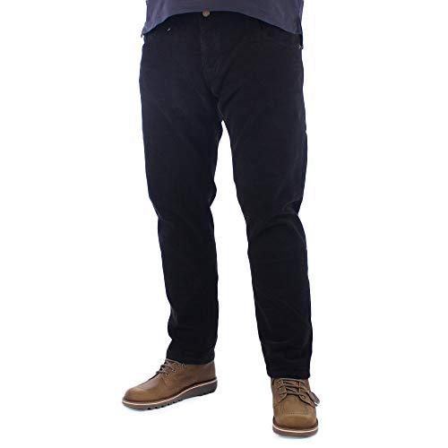 Lois Mens Sierra zwarte naald Corduroy broek W34 L30