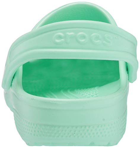 Crocs unisex adult Classic | Water Shoes Comfortable Slip on Shoes Clog, Neo Mint, 11 Women 9 Men US New Jersey