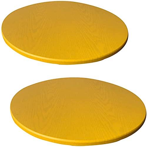 KFDZSW Paño De La Cubierta De La Redonda Se Ajusta A Las Mesas Redondas De Mantel Impermeable,Manteles Mesa Decorativo para Hogar Comedor del Cocina (Amarillo,120cm x 2)