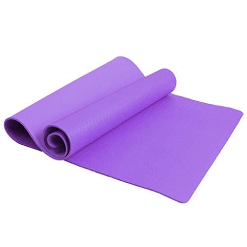 FKY Weich Waschbar rutschfest Yogamatte - für Anfänger und Fortgeschrittene, Matte für Yoga, Pilates, Sport und Training (Lila)