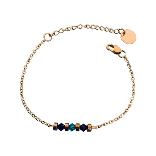 Mujer pulsera gourmet mágica piedras naturales y perlas heishi chapadas en oro 24 k, pulsera de oro, joyas de regalo, joyería de mujer de oro, idea de regalo de la mujer, joyería de regalo