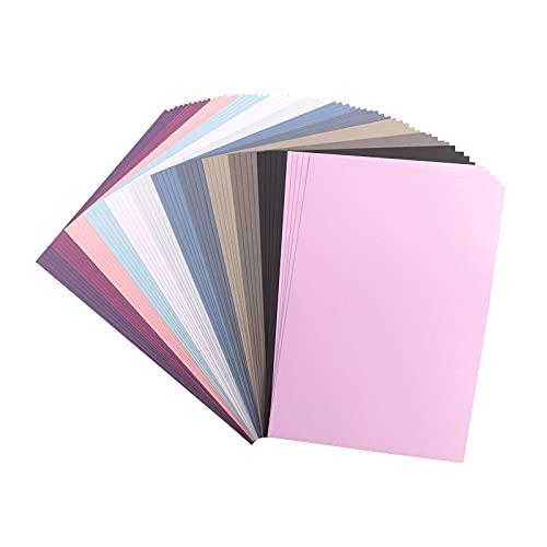 Vaessen Creative 2927-304 Florence Cardstock Papier, Farbenmix Winter, 216 Gramm/m², DIN A4, 60 Stück, Textur, für Scrapbooking, Kartenherstellung, Stanzen und andere Papierbasteleien, Multi