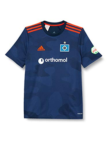 adidas Hamburgo SV Temporada 2020/21 Camiseta Segunda equipación, Unisex, Maruni/índmed/Narbri, 152