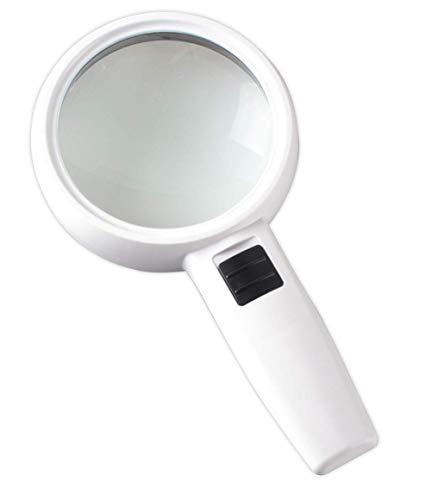 GENFALIN Encendió la Lupa de la Lupa de Mano 30 Veces 3 LED Luminoso Lupa Adecuado for los Ancianos a Leer y Explora
