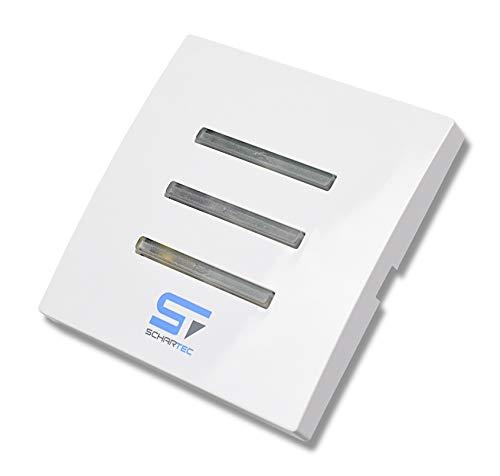 SCHARTEC Funk Taster für Rolladenmotor - Schalter Steuerung Wandtaster Funksteuerung Rolladen