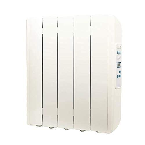 farho Radiador Electrico Eco Green 550W (5) · Emisor Termico con Termostato Digital Programable 24/7 · Radiadores Electricos Bajo Consumo para Estancias de hasta 9 m² · 20 AÑOS DE GARANTÍA