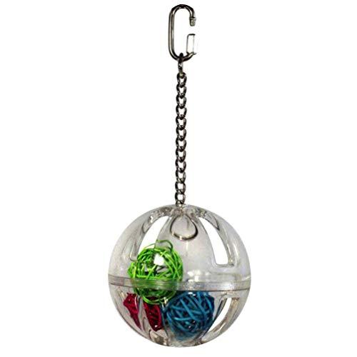 Balacoo Papegaai Foraging Ballen Ophangende Clear Foraging Bal met Wijnstok Ballen Vogelspeelgoed voor Vogelkooi…