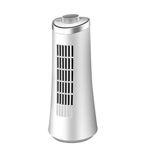 WYZ - Ventilador de Torre Muy silencioso sin Torre de Hojas, Mesa Izquierda y Derecha, Mesa vibratoria, Ventilador Vertical, Color Blanco