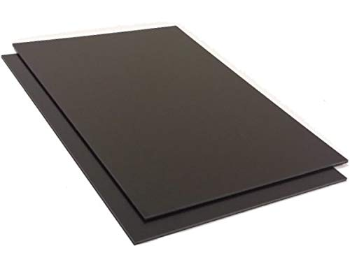Kunststoffplatte ABS 1mm Schwarz 2000x1000mm (2m x 1m) Acrylnitril-Butadien-Styrol - Made in Germany - Einseitige Schutzfolie - Top Qualität