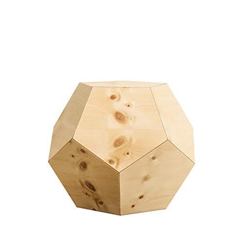 ZirbenLüfter ® LAMP dode1 | Stimmungslampe | Nachttisch-/Bodenlampe| LED – dimmbar Fernbedienung | 33 x31x28 cm |robust | DODEKAEDER mit 12 Fünfecken