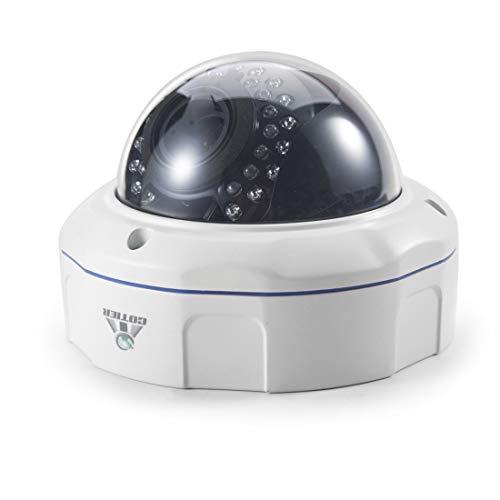 Cámara IP inalámbrica 537H2 / IP POE Zoom (Alimentación por Ethernet) 1080P H.265 HD 4 x Zoom óptico y 2.8-12mm Lente AF IP66 Cámara de vigilancia interior resistente a la intemperie, Soporte IR Visió
