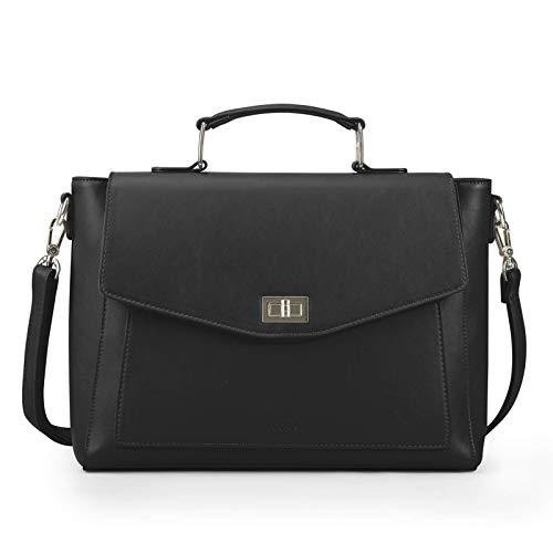 ECOSUSI Umhängetasche Damen Henkeltasche Aktentasche Arbeitstasche mit Laptopfach Schultasche Elegant Tote Tasche Frauen Handtasche