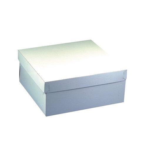 PAPSTAR GmbH 18857-10 Cajas de cartón cuadradas para Tartas con tapadera (30 x 30 x 13cm), Color Blanco