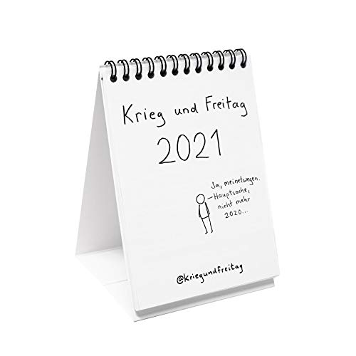 Close Up Krieg und Freitag Kalender 2020 - Größe: DIN A6 - Tischkalender 2020 - Wochenkalender 53 KW