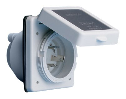 ParkPower 301ELRV 30A Power Inlet, White with Stainless Steel Trim