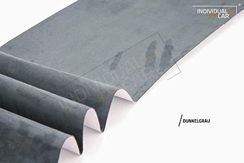 IndividualiseYourCar Microfaserstoff selbstklebend dunkelgrau - ähnlich Alcantara - Stretch Folie Stoff (200cm x 146cm (28,59€/m²), Dunkelgrau)