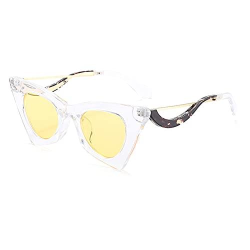 AMFG Gafas De Sol De Ojo De Gato Personalidad Femenina Calle Gafas De Sol Gafas De Sol Gafas Al Aire Libre (Color : H)