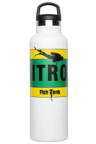 Fish Tank Botella térmica ilustrada Nitrox