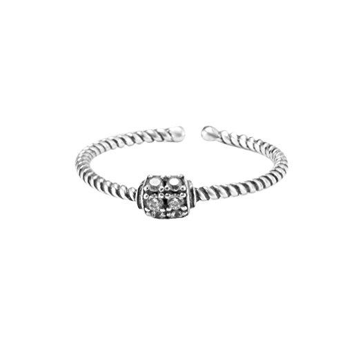 Charmante vrouwen zirkoon ring 925 sterling zilveren verloving open mond vinger ring mode-sieraden beste geschenken zilver