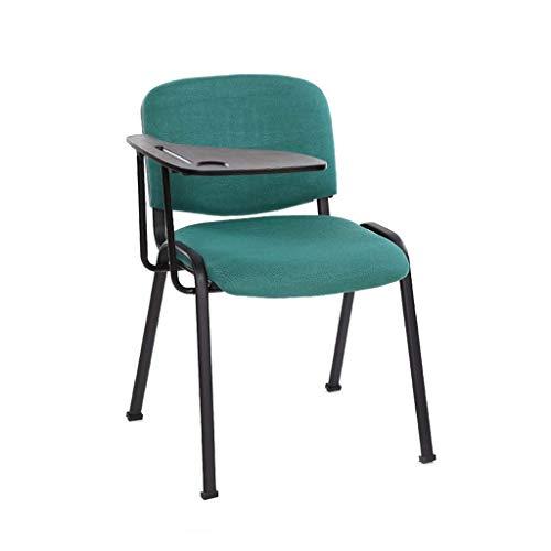 Lqfcjnb Büro stapelbarer Rezeptionsstuhl, Tagungsraum-Trainingsstuhl Solide dauerhafte Studentenschalterstühle Tablet-PC können Stuhlstuhl platziert Werden (Color : Green)