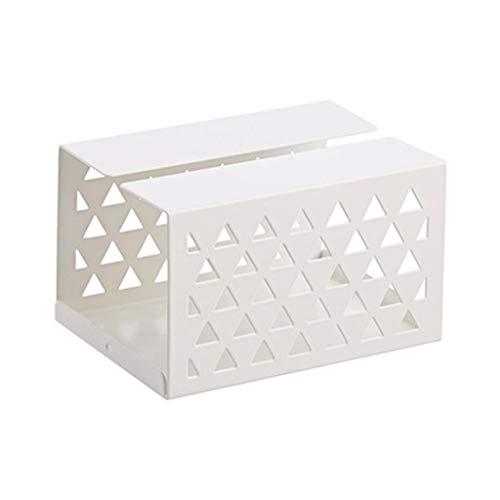 ZHongWei - Tissue Box Abdeckung Tissue Aufbewahrungsbox, Tissue Box, Schmiedeeisen Wohnzimmer, Desktop Nordic Tray, kreative einfache Serviette, drei Farben / - / (Color : White)